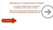 Tips for Attending Sessions – An e-Channel Help Playlist